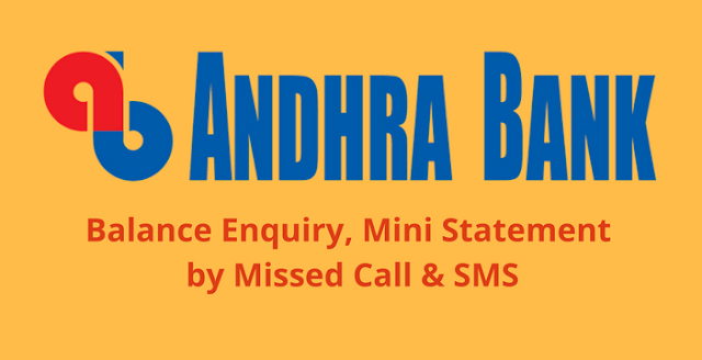 Andhra Bank Account Balance Enquiry