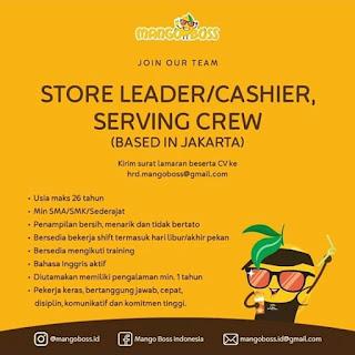 Info Lowongan Kerja Manggo Boss Store Leader Cashier Jakarta