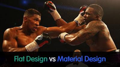 Flat vs Material Design