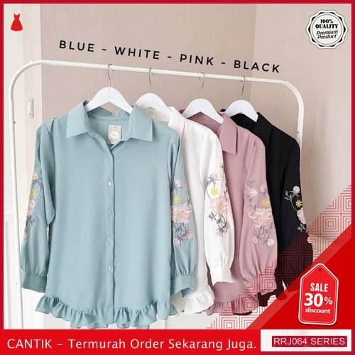 Jual RRJ064A128 Atasan Floria Shirt Wanita Sk Terbaru Trendy BMGShop