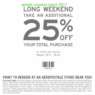 Aeropostale coupons march 2017