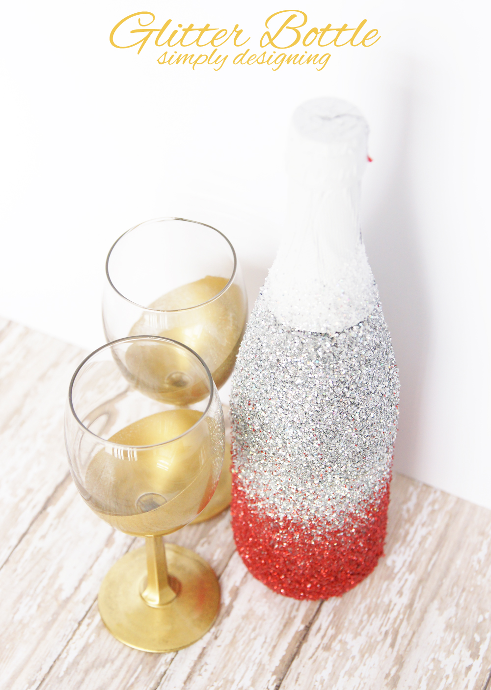 Champagne Glitter Dress Glass