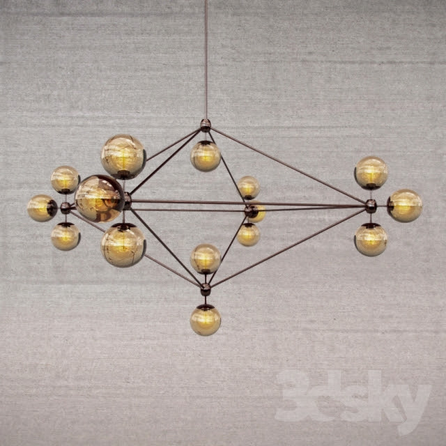 [3dmodelfree] Chandeliers and Lights set 2