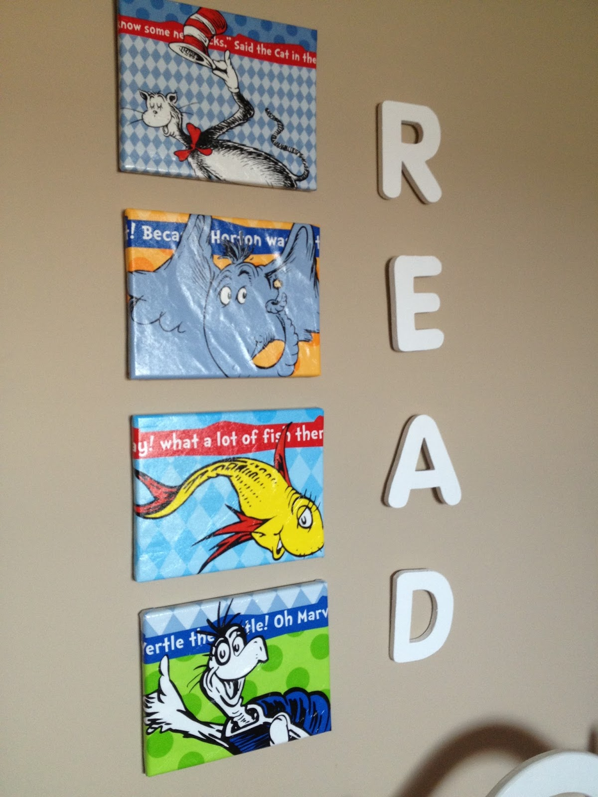 Amanda's Trying to be Crafty: Dr. Seuss Wall Decor