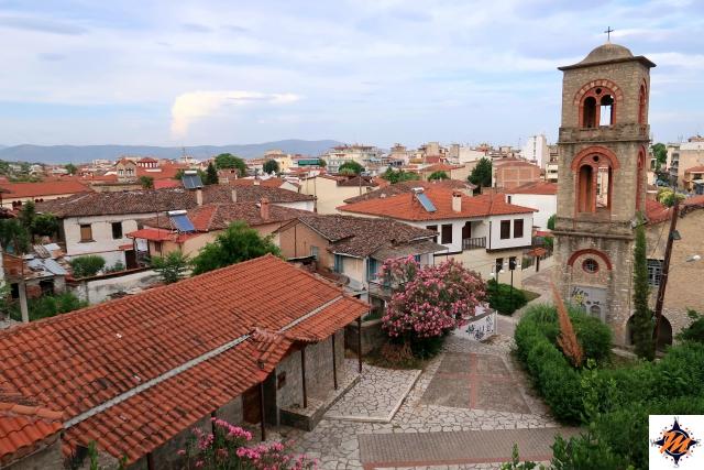 Trikala, vista panoramica salendo verso la fortezza
