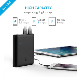 Anker PowerCore 10400 Portable Charger - Compact 10400mAh 2-Port Ultra Portable Phone Charger Power Bank with PowerIQ and VoltageBoost Technology for iPhone, iPad, Samsung Galaxy and More