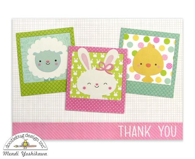 Doodlebug Design Easter Express Polaroid Frame Card by Mendi Yoshikawa