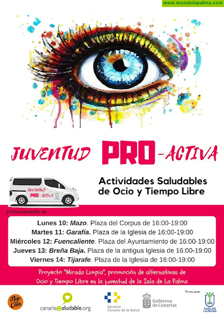 Asuntos Sociales desarrolla 'Juventud Pro-Activa', un proyecto de promoción del ocio y tiempo libre saludable