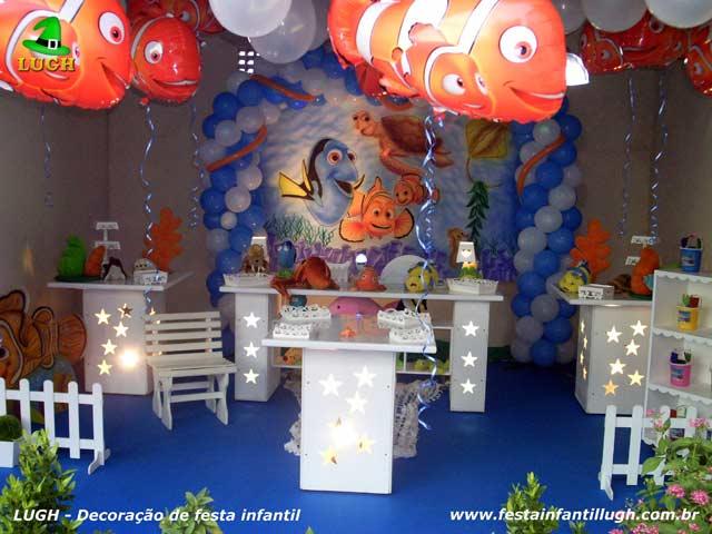 Decoração provençal - Festa de aniversário tema infantil Nemo