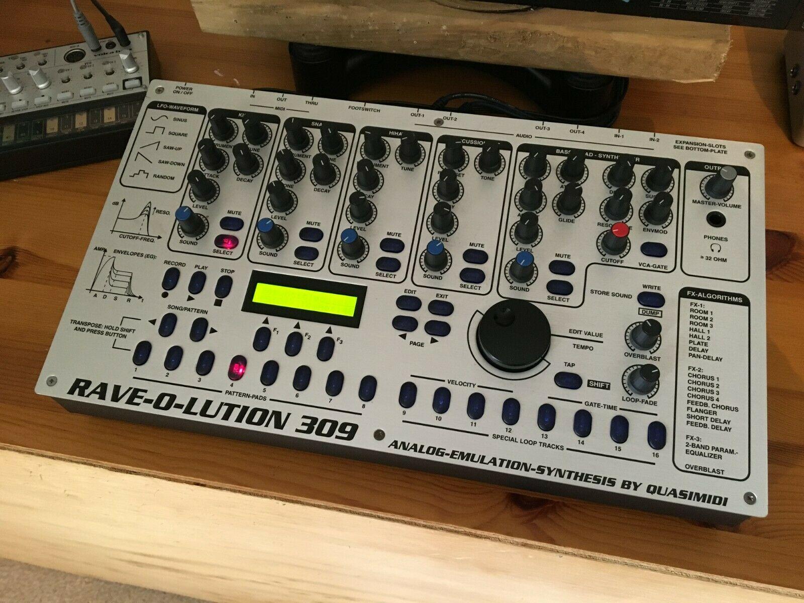 matrixsynth quasimidi 309 rave o lution drum machine seqencer synth expanded
