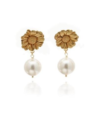 Thallo - bijuterii grecesti din flori naturale cercei perle