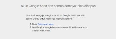 hapus akun google selamanya