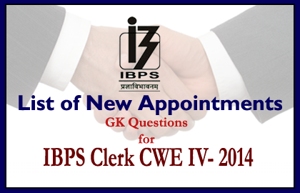 GK Questions for IBPS Clerk Exam IV