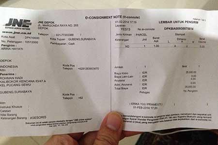 Cara Cek Resi JNE Kiriman Dari Surabaya