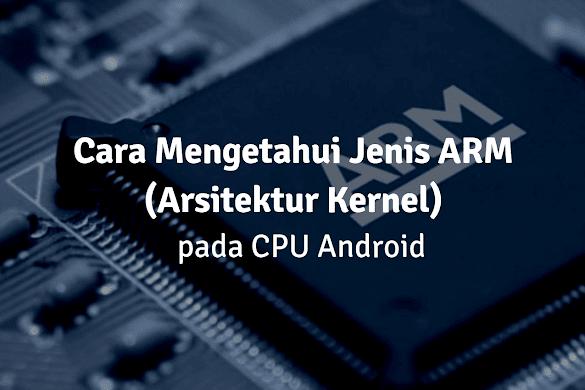 Cara Mengetahui Jenis ARM (Arsitektur Kernel ) CPU Semua Android