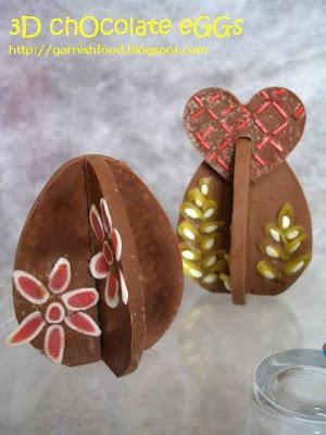 easter treat chocolate 3D lekue eggs