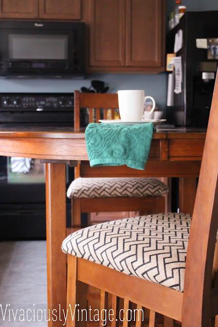 Easy Modern Burlap Barstool Upholstery! Kitchen!