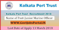 Kolkata Port Trust Recruitment 2018 –Junior Marine Officer