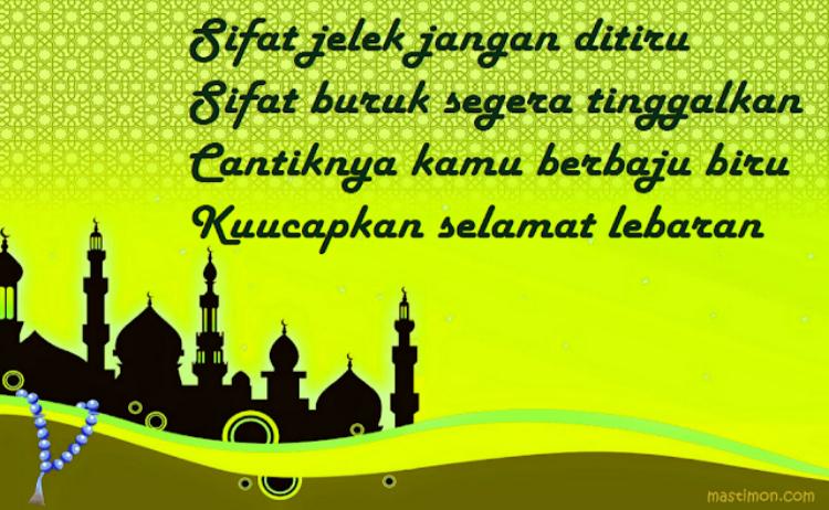 Pantun Ucapan Lebaran Idul Fitri 1440 H 2019