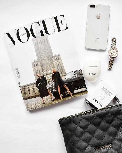 iPhone 8 plus silver, krem do rąk chanel la creme main, kosmetyczka valentino, bulova diamond watch,