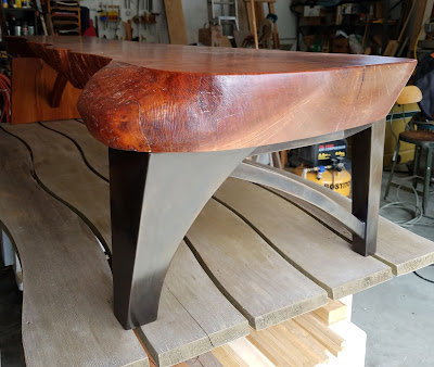 A New Bronze and Cherry Coffee Table / Bench
