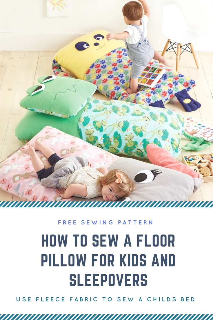 Free Easy Sewing Floor Bed Pillow for Kids to Sleep on