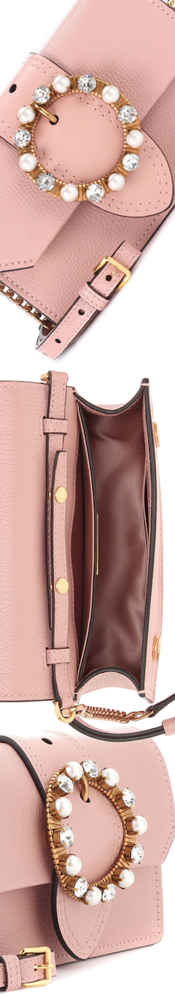 Miu Miu Leather Embellished Bag