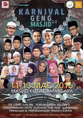 Karnival Geng Masjid di Kota Damansara