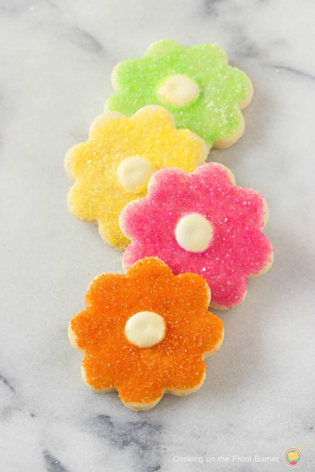 Flower Power Shortbread Cookies | Cooking on the Front Burner