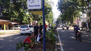 Disnaker Kota Cirebon Tanam Pohon Hias Di Median Jalan