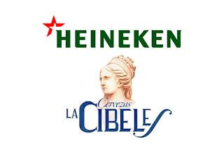 Logotipos de las cervezas Heineken y La Cibeles
