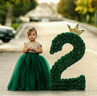 Photo: This little cutie rings in her second birthday in style