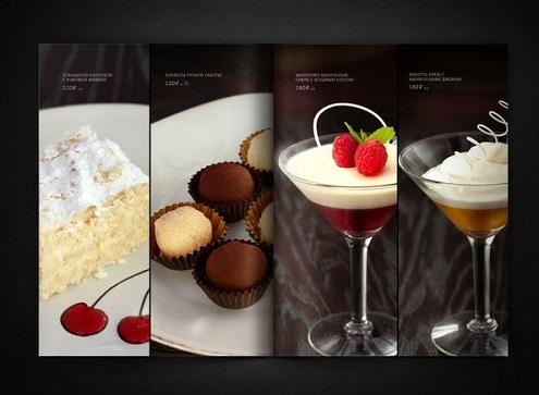 Mẫu menu nhà hàng đẹp dành cho bánh ngọt và đồ uống