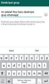 cara menambahkan deskripsi grup di whatsapp