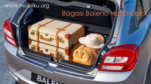 bagasi, baleno, hatchback, barang, bawaan, tempat, belakang, bagian, eksterior, interior