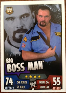 WWE Big Boss Man card for Slam Attax Rumble