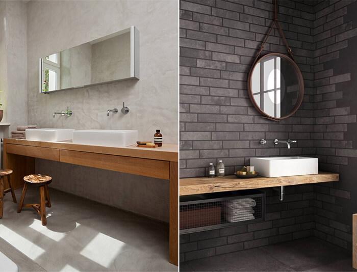 Arredamento bagno, mobili in legno massello