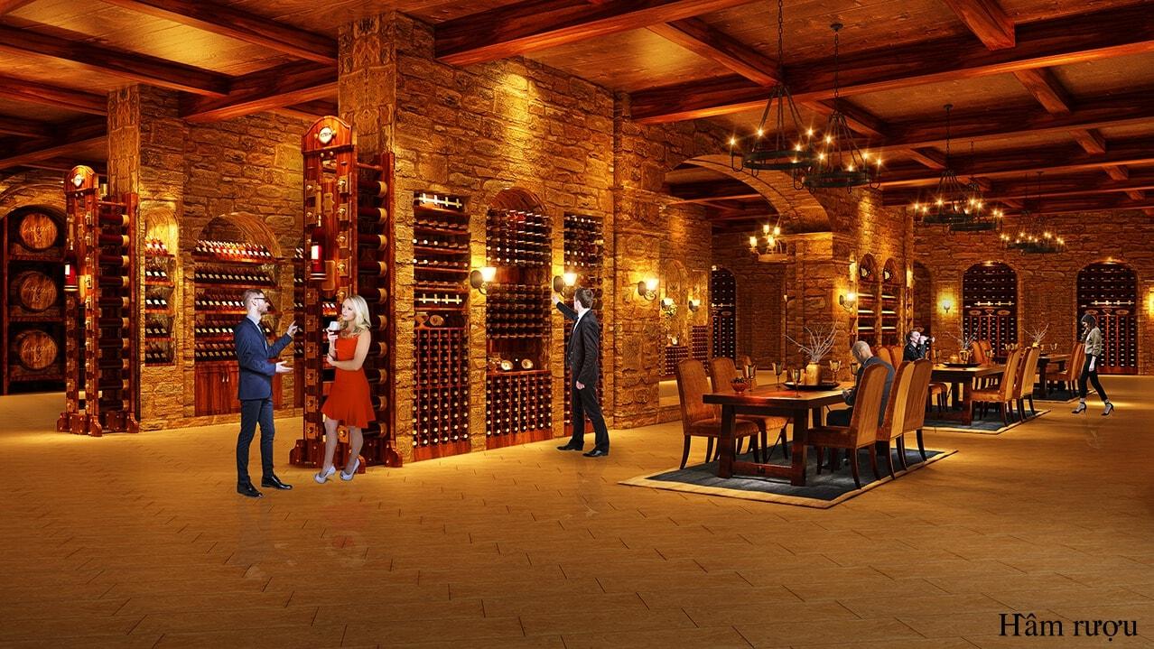 Hầm rượu dự án Hateco Láng Thượng