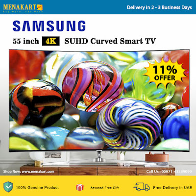 Samsung 55 inch 4K SUHD Curved Smart TV