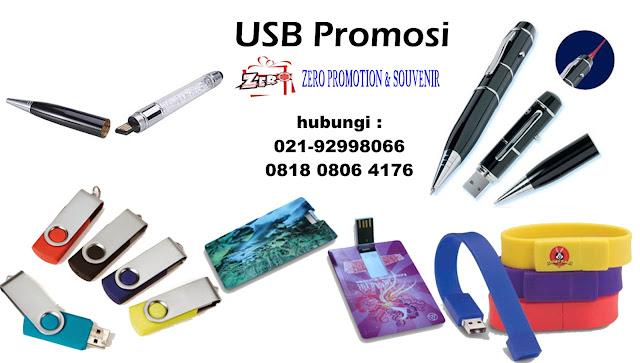 USB Promosi disablon atau grafir dengan logo anda