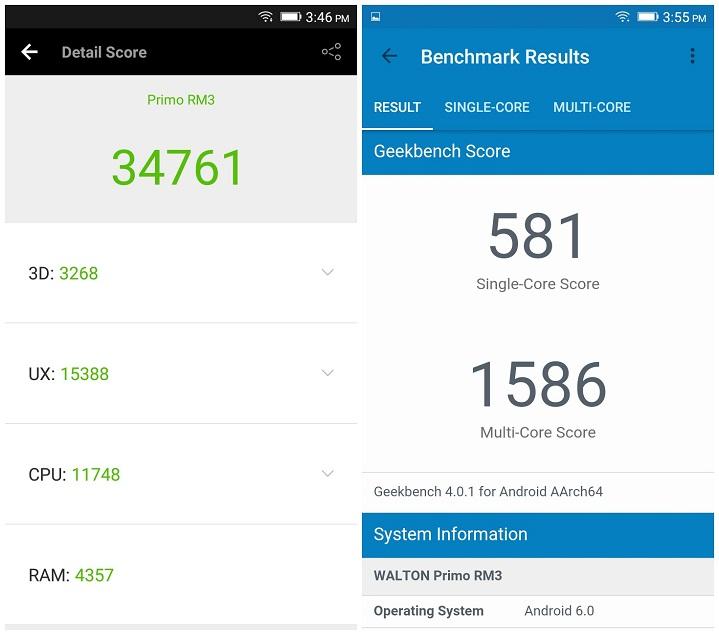 Primo RM3 review Antutu Benchmark Score