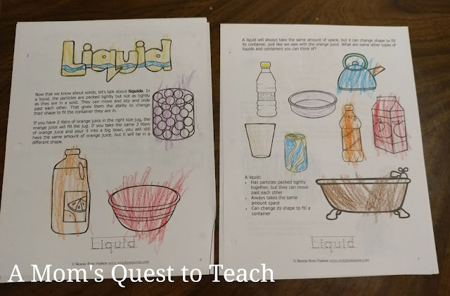 science worksheets from WriteBonnieRose