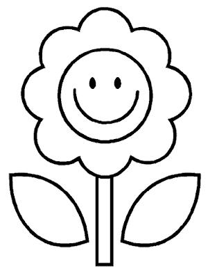 Gambar Mewarnai Bunga - 1
