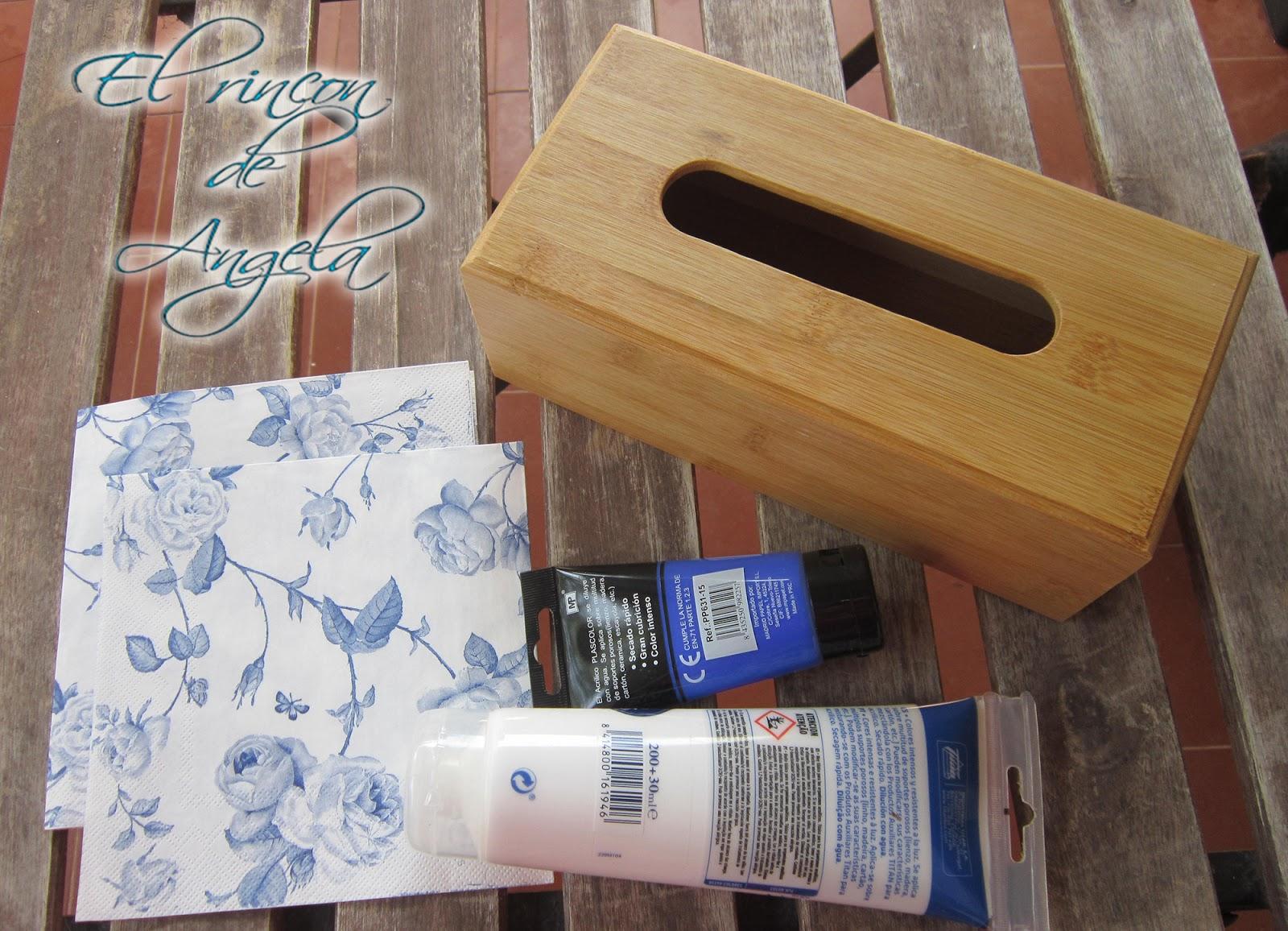 El rincon de angela como decorar con decoupage una caja - El rincon azul de angela ...
