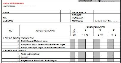 Contoh Formulir Evaluasi Supplier Sinatoh