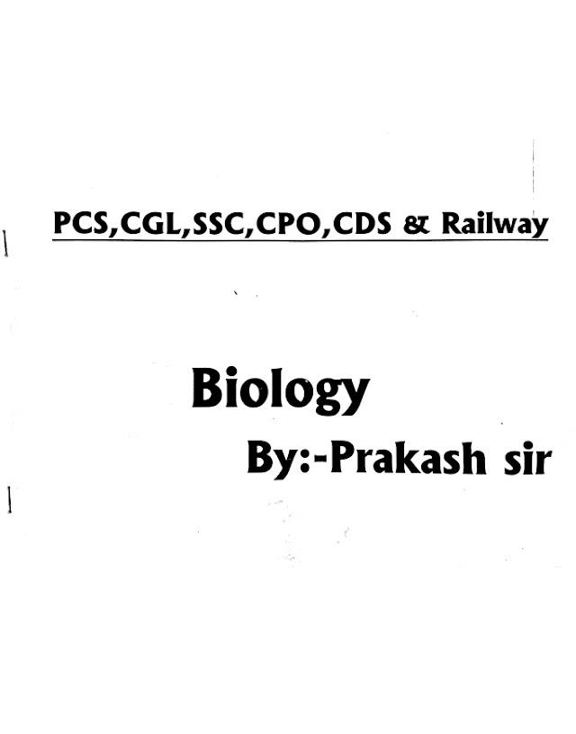 BIOLOGY BY PRAKASH SIR