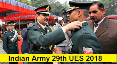 Indian Army UES 29th University Entry Scheme 2018