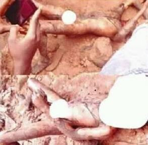 Shocking photos from Ritualist den uncovered yesterday