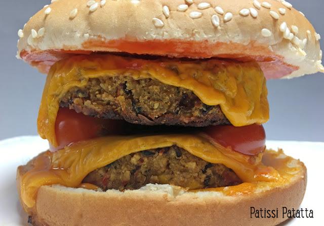 recette de steaks végétariens, steaks végétariens, steaks de légumes, recette végétarienne, hamburger végétarien, vegetarian burger, préparer des steaks végétariens, galettes de légumes, patissi-patatta