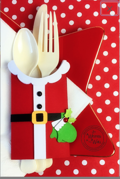 Christmas Santa Utensil Holder